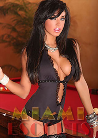 Brunette escort girls in Miami have busty figures.