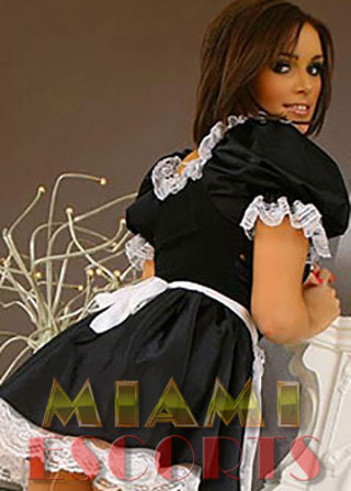 Brunette escorts South Miami love to wear sexy costumes for role-playing.
