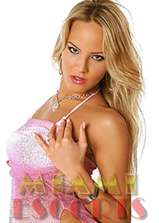 Sexy blonde who offers nuru massage Miami gives a come hither look.